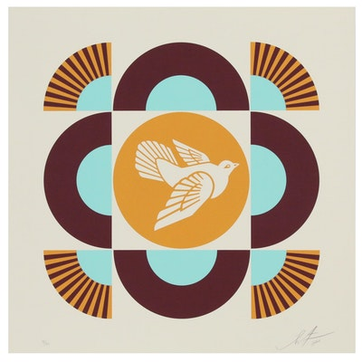 Shepard Fairey Silkscreen Geometric Dove, 2018