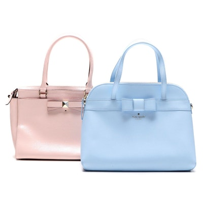 Kate Spade New York Bow Bags in Light Blue and Pink Leather