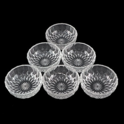 """Val St. Lambert """"Imperial"""" Cut Crystal Round Bowls"""