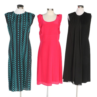 J. Peterman LC Chiffon Overlay Dress and Other Dresses with Original Tags