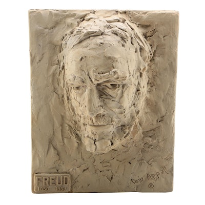 "Doris Appel Cast Plaster Medical Sculpture ""Freud"", 1954"