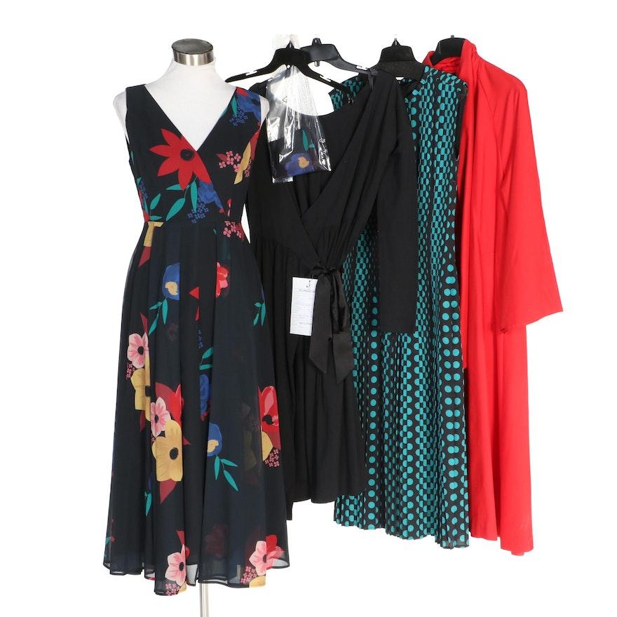 J. Peterman Design Sample Artist's Raincoat and Dresses with Tags