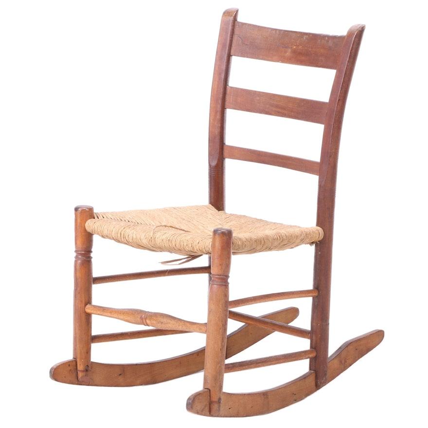 American Primitive Ladderback Rocking Chair