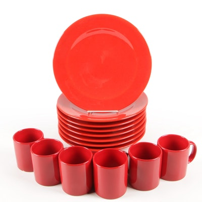 "German Waechtersbach ""Fun Factory II"" Red Earthenware Dinnerware"