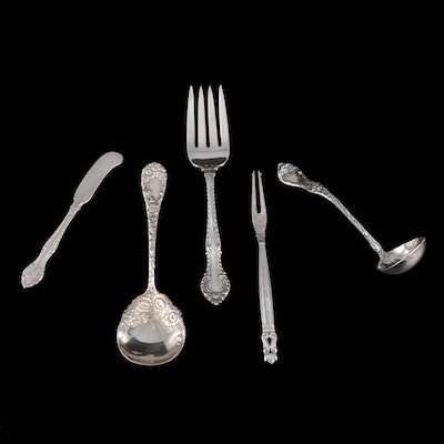 Danish and American Sterling Silver Utensils Including Georg Jensen and Gorham