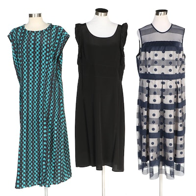 J. Peterman Riotous Polka Dot & Stripe Dress and More Dresses with Original Tags