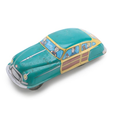 "Schylling Tin Lithograph ""Woody Style"" Touring Friction Toy Car, 2003"