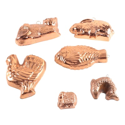 Copper Animal Baking Molds