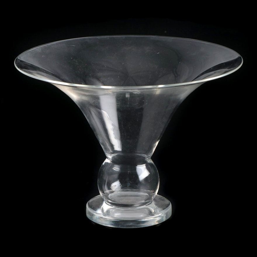 Steuben Art Glass Flared Vase Designed by Sidney Waugh, Early/Mid 20th Century