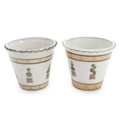 Two Louisville Stoneware Planters