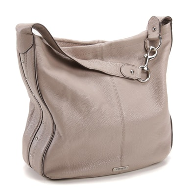 Coach Park Avery Putty Pebbled Leather Shoulder Bag