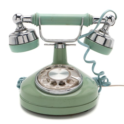 Western Electric French Style Mint Green Rotary Dial Telephone