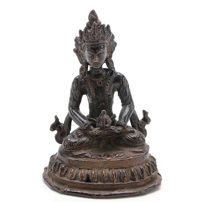 Tibetan Bronze Amitabha Buddha, Late 19th/Early 20th Century