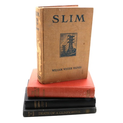 "Fiction Books Including 1934 First Edition ""Slim"" by William Wister Haines"