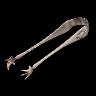 Wallace Sterling Silver Sugar Tongs, Early to Mid 20th Century