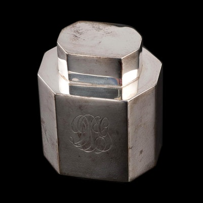 Gorham Sterling Silver Tea Caddy, Early to Mid 20th Century