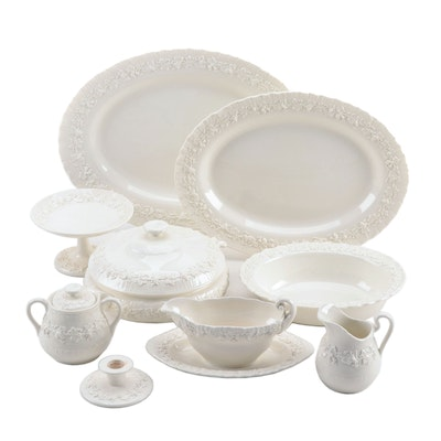 "Wedgwood ""Embossed Queensware"" Serveware, 1940-75"