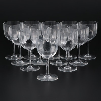 "Baccarat ""Montaigne"" Crystal Water Goblets, Late 20th Century"