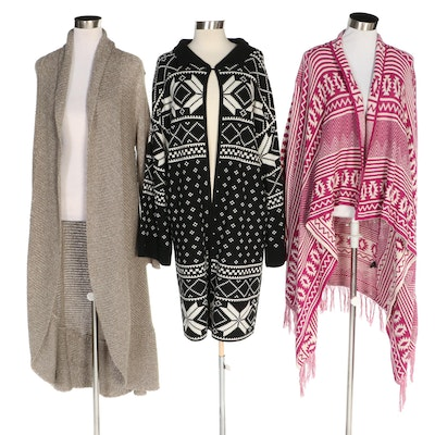 J. Peterman and Maria Lisa Design Sample Long Sweaters and Cardigans