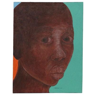 Abiola Idowu Portrait Mixed Media Painting