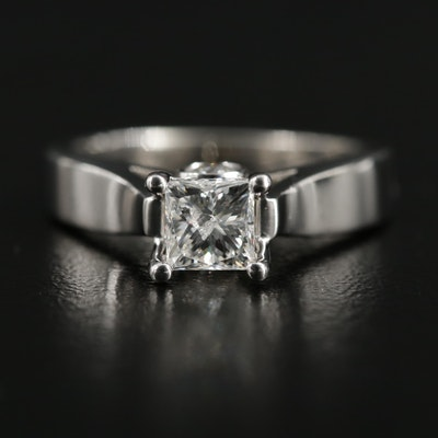14K White Gold 1.02 CTW Diamond Ring
