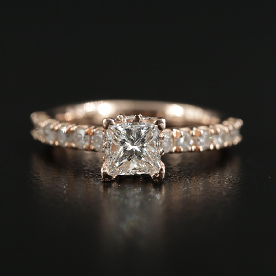 14K 1.55 CTW Diamond Ring with GIA Report