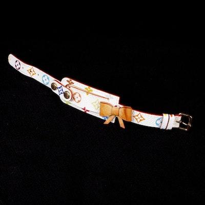 Louis Vuitton Multicolore Monogram and Vachetta Leather Bow I.D. Bracelet
