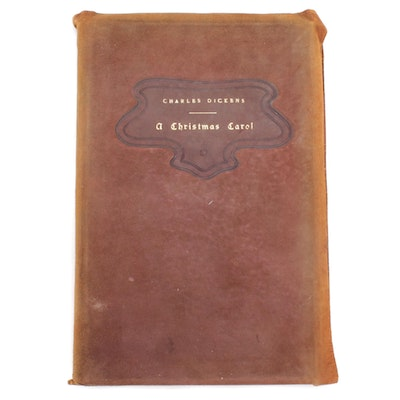 "Leather Bound ""A Christmas Carol"" by Charles Dickens, 1902"