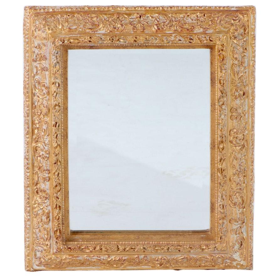 Baroque Style Gilt Composite Wall Mirror