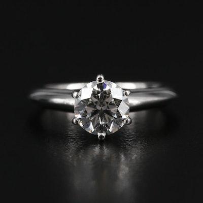 Tiffany & Co. Platinum 0.99 CT Diamond Solitaire Ring