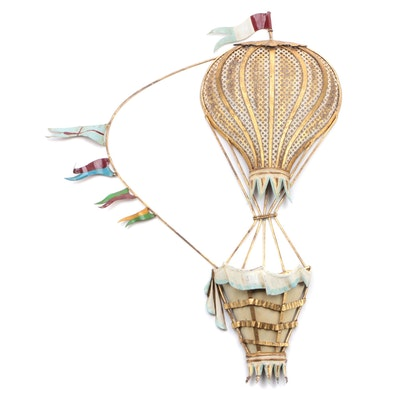 Palladio Metal Hot Air Balloon Wall Decoration