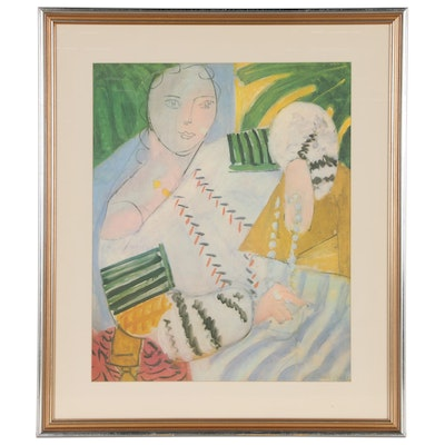 "Offset Lithograph after Matisse ""The Embroidered Blouse"""
