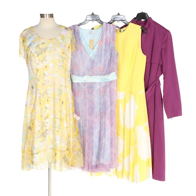 J. Peterman Silk Georgette and Silk Blend Dresses with Raincoat