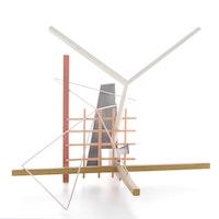 "Richard Friedburg Polychrome Steel Sculpture ""Coenties Slip"""