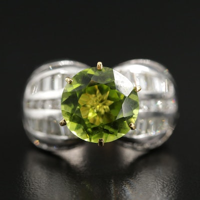 14K Gold Peridot and 2.16 CTW Diamond Ring