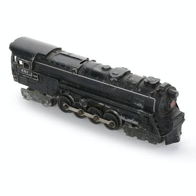 Lionel 681 Steam Turbine Locomotive, Marked 6200 Pennsylvania Railroad, 1950s