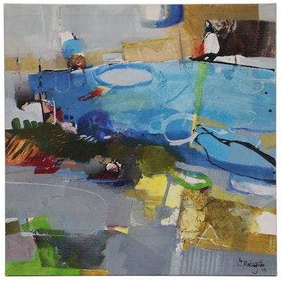 "Eduardo Montengudo Abstract Oil Painting ""North Shore"""