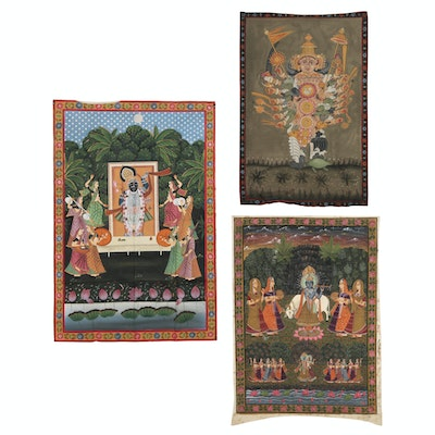 Monumental Rajasthani Pichhwai Paintings, 20th Century