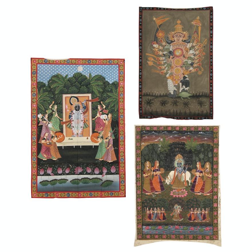 Monumental Rajasthani Pichhwai Paintings, 20th Century