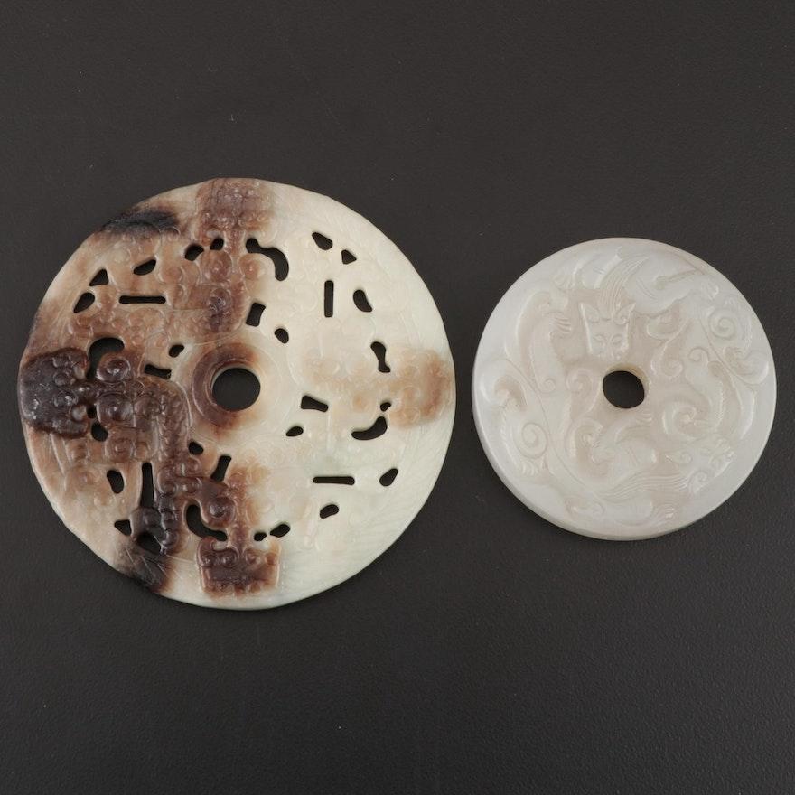 Chinese Nephrite Bi Discs