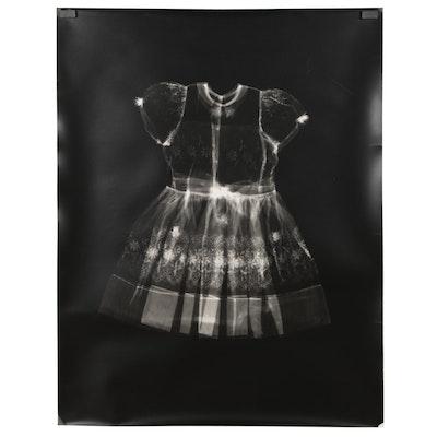 Karen Savage Life-Size Photogram of Child's Dress