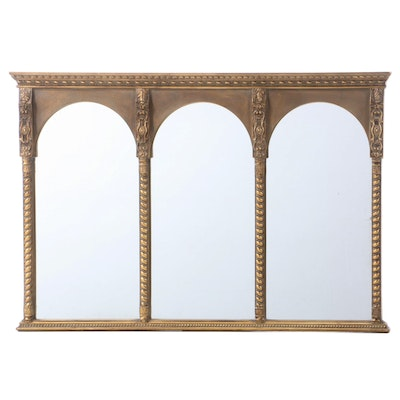 Uttermost Giltwood Overmantel Mirror