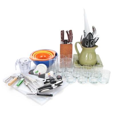 Emojoy Kitchen Knife Set with Large Assortment of Kitchen Tools