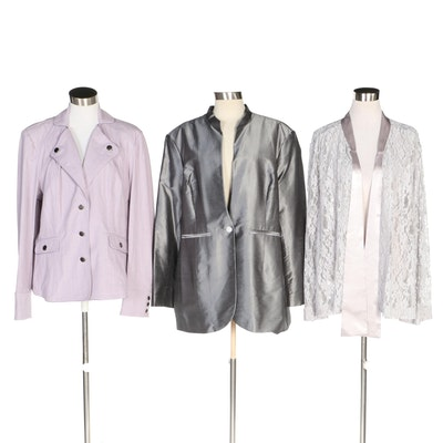 J. Peterman Silk, Lace and Cotton Jackets with Original Tags