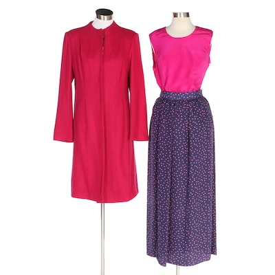 J. Peterman Third Act Wool Blend Coat, Skirt and Blouse with Tags