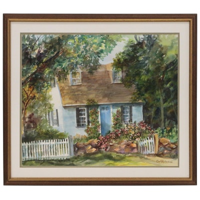 Christy Andres Watercolor Painting of Cottage