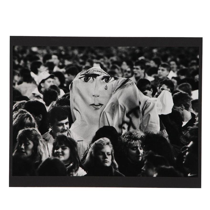 """William D. Wade Silver Gelatin Photograph """"U2 Concert Sheet Banner"""""""