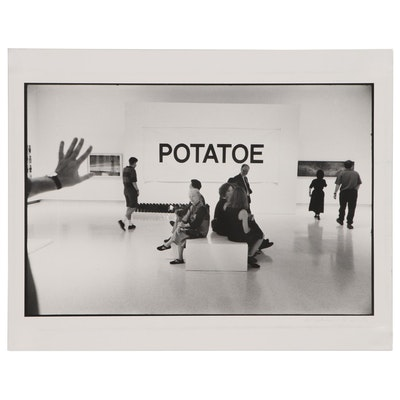 "William D. Wade Silver Gelatin Print ""VP Dan Quayle Spells Potatoe"""