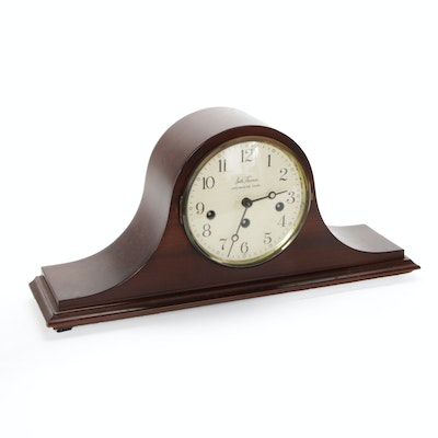 Seth Thomas Westminster Chime German Two Jewels Tambour Clock, Mid-20th Century