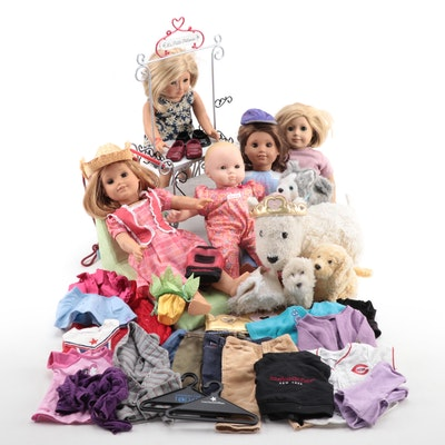 American Girl Dolls and Accessories Including Kit Doll